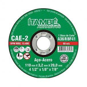 Disco Corte Itambe Ferro  4.1/2x7/8 2t Kit C/10 PECA(S)