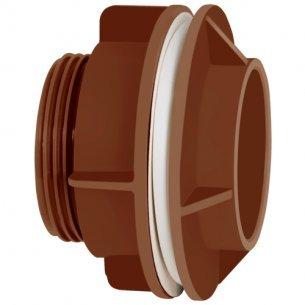 Adaptador C/flange Corr Plastik 2 Marrom C/3 Unidades