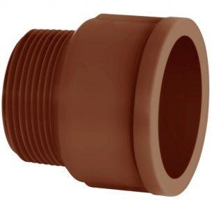 Adaptador Curto Corr Plastik 1.1/2 Marrom C/5 Unidades