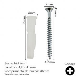 Bucha Fix.sfor Mu 06 C/100 Com Parafuso Tij.fur