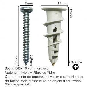 Bucha Drywall Sforp Dryfix Com Parafuso C/100