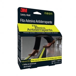 Fita Anti-derrap 3m Neon 5x50mm Pr