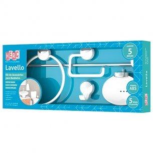 Acessorio P/banh.5pc Lavello Br/cr Herc