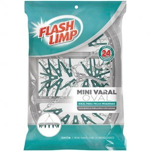 Varal Mini C/24 Prend.oval Flash Limp