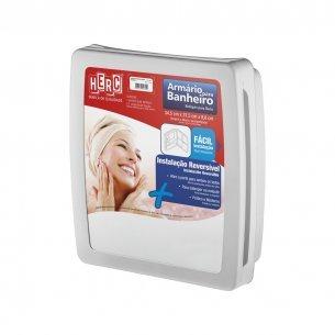 Armario Banheiro Plastico Herc 2651 Externo/embutir 34x37 Cinza  2651