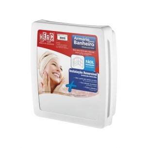 Armario Banheiro Plastico Herc 2650 Externo/embutir 34x37 Branco   2650