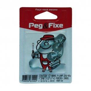 Abracadeira Fluorescente (kit Com Parafusoaf/porca/arruela) Peg Fixe Cartela Com 2 Pecas  Aabf/02