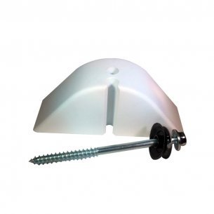 Calco Para Telha Ondulada 2 Furos Branco  10 Pecas Kit  387312