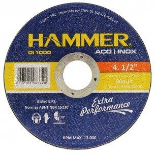 Disco Inox Hammer 4.1/2 X1.0mm  Gydi1000 Kit C/10