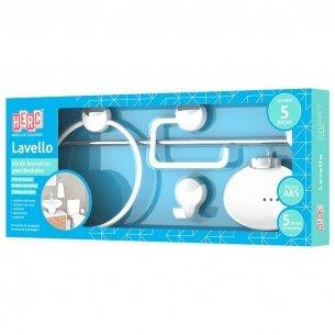 Acessorio Wc Herc Lavello Kit Com 5 Pecas Branco /cromado  4091