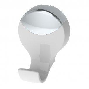 Acessorio Wc Herc Lavello Cabide Simples Branco /cromado  4051