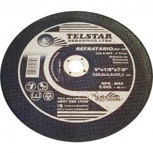 Disco Refratario Telstar  9 X 1/8 X 7/8 2 Telas  302211 Kit C/5